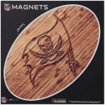 "Fanatics Tampa Bay Buccaneers 12"" x 12"" Wood Design Oval Car Magnet"