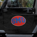 "Fanatics SMU Mustangs Mega 12"" x 12"" Car Magnet"