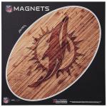 "Fanatics Miami Dolphins 12"" x 12"" Wood Design Oval Car Magnet"