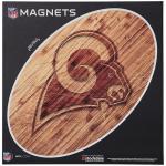 "Fanatics Los Angeles Rams 12"" x 12"" Wood Design Oval Car Magnet"