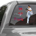 Fanatics WinCraft Kris Medlen Atlanta Braves 11'' x 17'' Ultra Decal Player Window Clings Sheet
