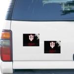 "Fanatics Indiana Hoosiers 5"" x 6"" Rectangular 2-pack Car Magnet Set"