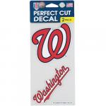 """Fanatics Washington Nationals WinCraft Wordmark 2-Pack 4"""" x 4"""" Vinyl Decals"""