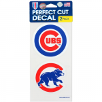 Fanatics Chicago Cubs 2-Pack 4'' x 4'' Die-Cut Decals