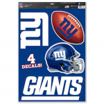 "Fanatics New York Giants WinCraft #1 Fan 11"" x 17"" Multi-Use Decal Sheet"