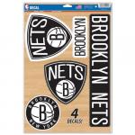 "Fanatics Brooklyn Nets WinCraft 11"" x 17"" Multi-Use Decal Sheet"