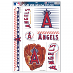 "Fanatics Los Angeles Angels of Anaheim WinCraft 7-Piece 11"" x 17"" Multi-Use Decal Sheet"
