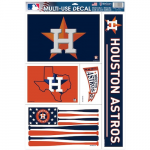 "Fanatics Houston Astros WinCraft 11"" x 17"" Multi-Use Decal Sheet"