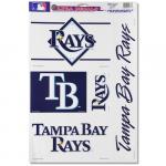 "Fanatics Tampa Bay Rays WinCraft 11"" x 17"" Five-Piece Multi-Use Decal Sheet"