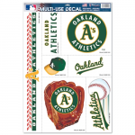 "Fanatics Oakland Athletics WinCraft 7-Piece 11"" x 17"" Multi-Use Decal Sheet"