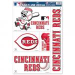 """Fanatics Cincinnati Reds WinCraft 5-Piece 11"""" x 17"""" Multi-Use Decal Sheet"""