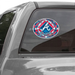 Fanatics WinCraft Atlanta Braves 11'' x 17'' Stained Glass Decal Sheet