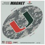 "Fanatics Miami Hurricanes 8"" x 8"" Digi Camo Oval Car Magnet"