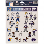 Fanatics Kansas Jayhawks vs. Kansas State Wildcats WinCraft Family Decal Sheet