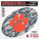 "Fanatics Clemson Tigers 8"" x 8"" Camo Oval Repositionable Decal"