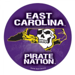 "Fanatics East Carolina Pirates WinCraft 4"" Die Cut Car Magnet"