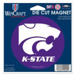 """Fanatics Kansas State Wildcats WinCraft 4"""" Die Cut Car Magnet"""