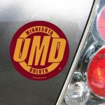 "Fanatics Minnesota Duluth Bulldogs WinCraft 4"" Die Cut Car Magnet"