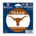 "Fanatics Texas Longhorns WinCraft 4"" Die Cut Car Magnet"