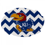 Fanatics Kansas Jayhawks 2-Pack Chevron Swirl Car Magnets
