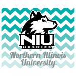 Fanatics Northern Illinois Huskies 2-Pack Chevron Swirl Car Magnets