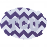 Fanatics TCU Horned Frogs 2-Pack Chevron Swirl Car Magnets