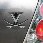 Fanatics Virginia Cavaliers Silver Car Emblem
