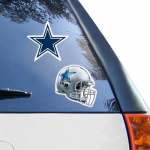 Fanatics Dallas Cowboys 2-Pack 4'' x 4'' Die-Cut Decals