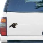 "Fanatics Carolina Panthers Logo 6"" x 6"" Die-Cut Metallic Car Magnet"