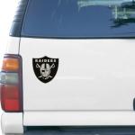 "Fanatics Oakland Raiders Logo 6"" x 6"" Die-Cut Metallic Car Magnet"