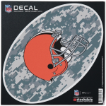 """Fanatics Cleveland Browns 8"""" x 8"""" Camo Oval Repositionable Decal"""
