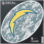 "Fanatics Los Angeles Chargers 8"" x 8"" Camo Oval Repositionable Decal"