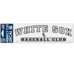 "Fanatics Chicago White Sox WinCraft 3"" x 10"" Arch Perfect Cut Decal"