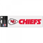 "Fanatics Kansas City Chiefs WinCraft 3"" x 10"" Logo & Name Perfect Cut Decal"