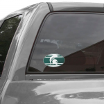 "Fanatics Michigan State Spartans 8"" x 8"" Super Stripe Oval Repositionable Vinyl Decal"
