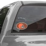 "Fanatics Cleveland Browns Chevron 8"" x 8"" Oval Repositionable Vinyl Decal"