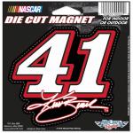 """Fanatics Kurt Busch WinCraft 5.25"""" x 5.12"""" Haas Cut to Logo Car Magnet"""