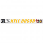 "Fanatics Kyle Busch WinCraft 2"" x 17"" Perfect Cut Decal"
