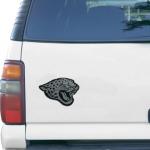"Fanatics Jacksonville Jaguars Logo 6"" x 6"" Die-Cut Metallic Car Magnet"