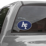 """Fanatics Air Force Falcons Teamball 8"""" x 8"""" Oval Repositionable Vinyl Decal"""