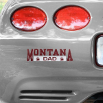 Fanatics Montana Grizzlies Dad Car Decal