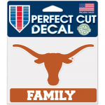 "Fanatics Texas Longhorns WinCraft 4"" x 5"" Family Perfect Cut Decal"