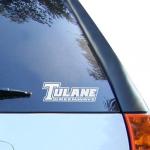 Fanatics Tulane Green Wave White Wordmark Decal