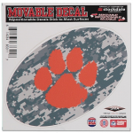 "Fanatics Clemson Tigers 6"" x 6"" Digital Camo Oval Repositionable Decal"