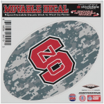 """Fanatics NC State Wolfpack 6"""" x 6"""" Digital Camo Oval Repositionable Decal"""