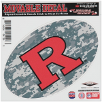 "Fanatics Rutgers Scarlet Knights 6"" x 6"" Digital Camo Oval Repositionable Decal"