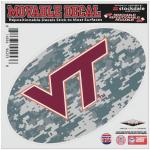 "Fanatics Virginia Tech Hokies 6"" x 6"" Digital Camo Oval Repositionable Decal"