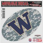 "Fanatics Washington Huskies 6"" x 6"" Digital Camo Oval Repositionable Decal"