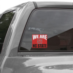 Fanatics North Carolina State Wolfpack 5'' x 6'' We Are NC State Decal