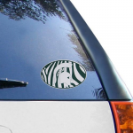 Fanatics Michigan State Spartans 6'' x 6'' Zebra Die-Cut Repositionable Vinyl Decal